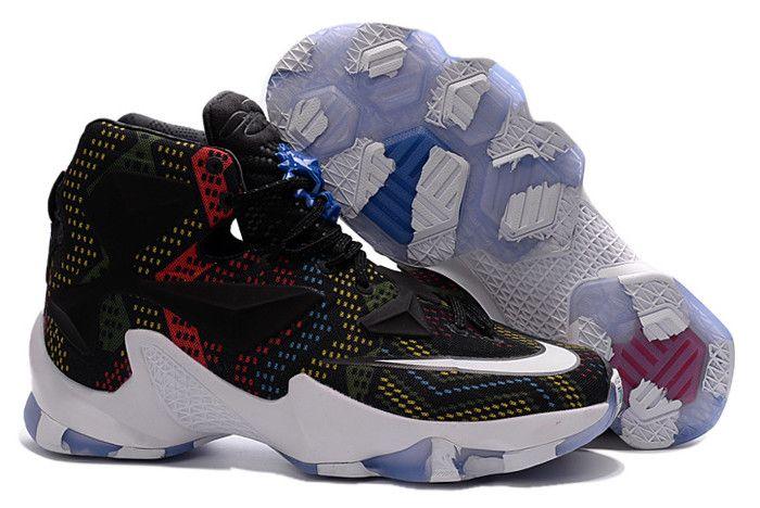 "1704d1f865b Nike LeBron 13 ""BHM"" Multicolor White-Black 828377-910"