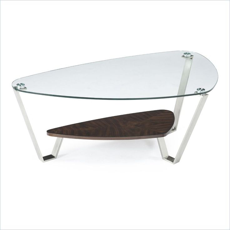 Superb Lowest Price Online On All Magnussen Pollock Cocktail Table In Brushed  Nickel And Walnut   T2117