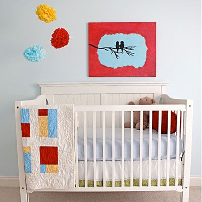 I like these colors! Baby Nursery Ideas - Southern Living | #nurseryideas #babynursery #cribs