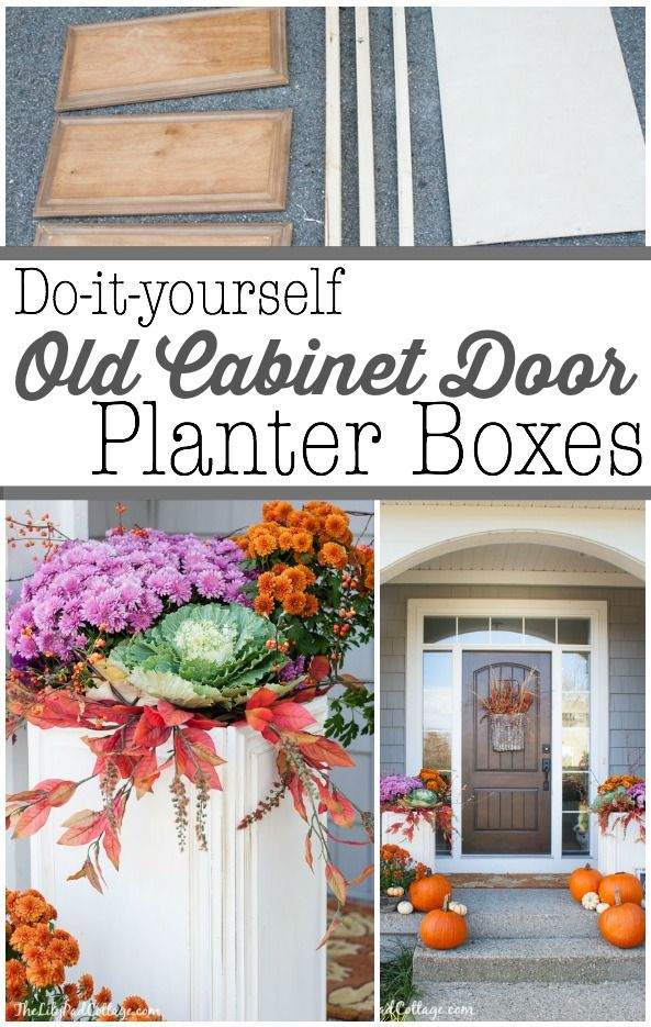 DIY Cabinet Door Planter Boxes - Love this idea, make planters out of old cabinet door for just $15!