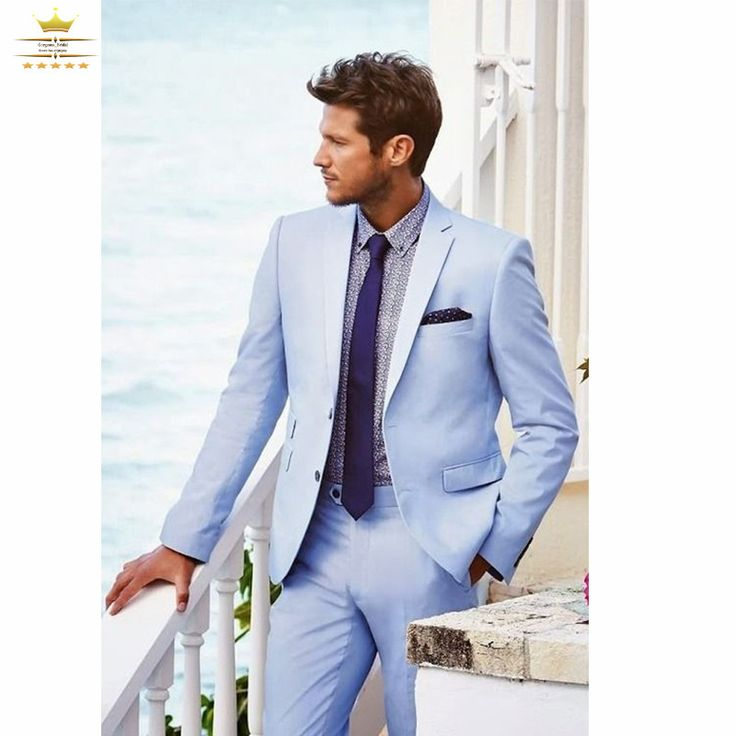 Find More Suits Information about Grooms Mens Tuxedo Custom Wedding Suits For Men With Pants Slim Fit Light Sky Blue tailcoat 3 Piece Jacket + Pants+Tie XL619,High Quality suit snow,China suit companies Suppliers, Cheap suit handkerchief from NBG AIH on Aliexpress.com