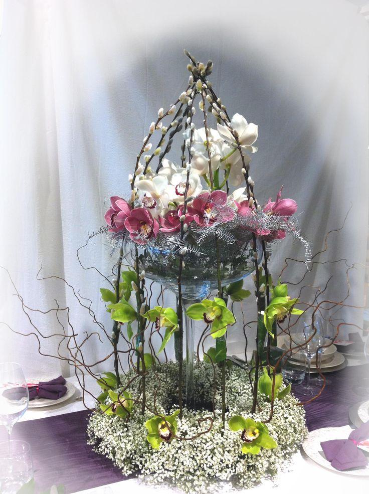 Bird cage arrangements wedding flowers in kent by
