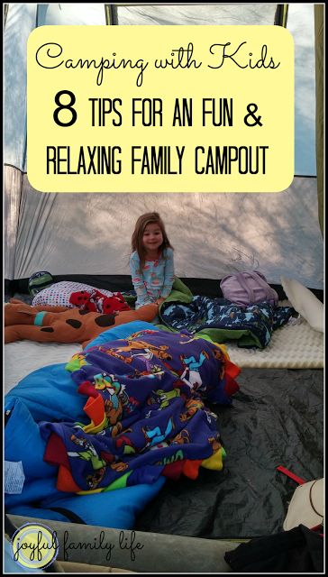 How to survive camping with kids, 8 tips from the Joyful Family Life blog