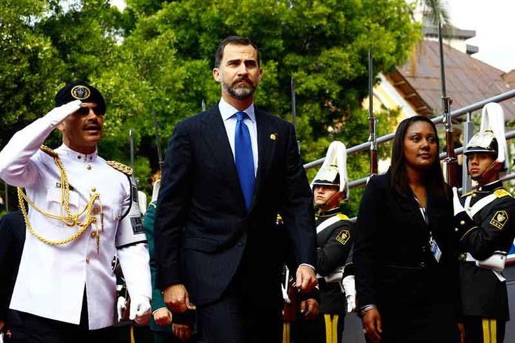 El príncipe Felipe Borbón, España.