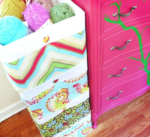 Fabric Bins For Girls Room