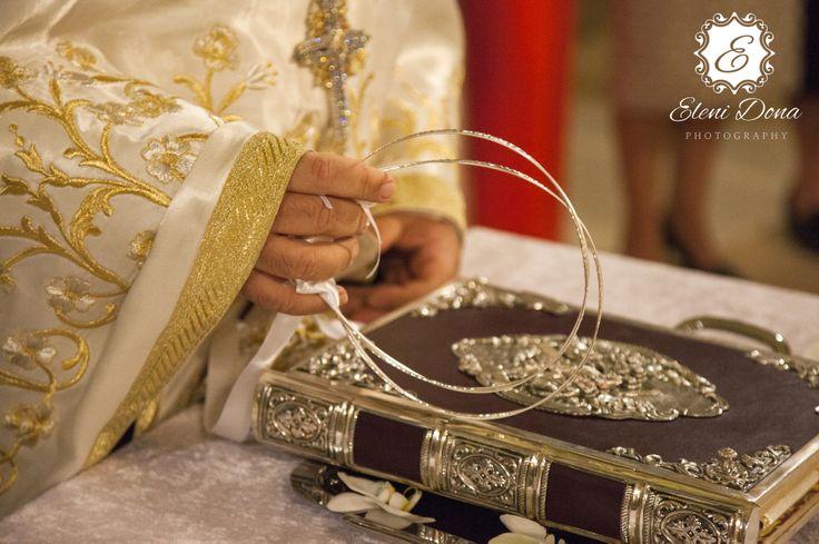 Wedding ceremony. Orthodox wedding in Greece.