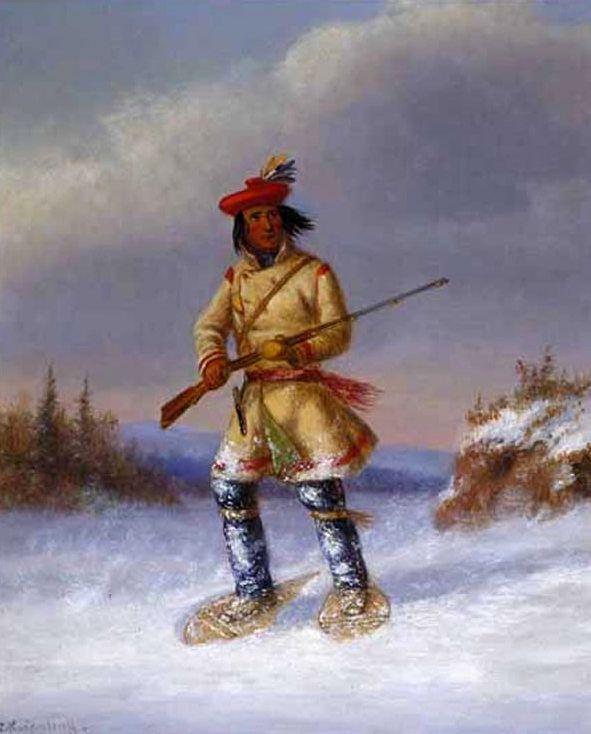 Cacciatore Indiano con Racchette da Neve XIV.
