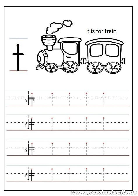 Lowercase letter T Worksheets Kindergarten