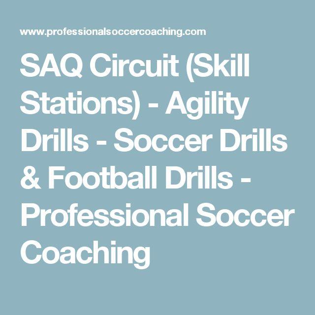 SAQ Circuit (Skill Stations) - Agility Drills - Soccer Drills & Football Drills - Professional Soccer Coaching