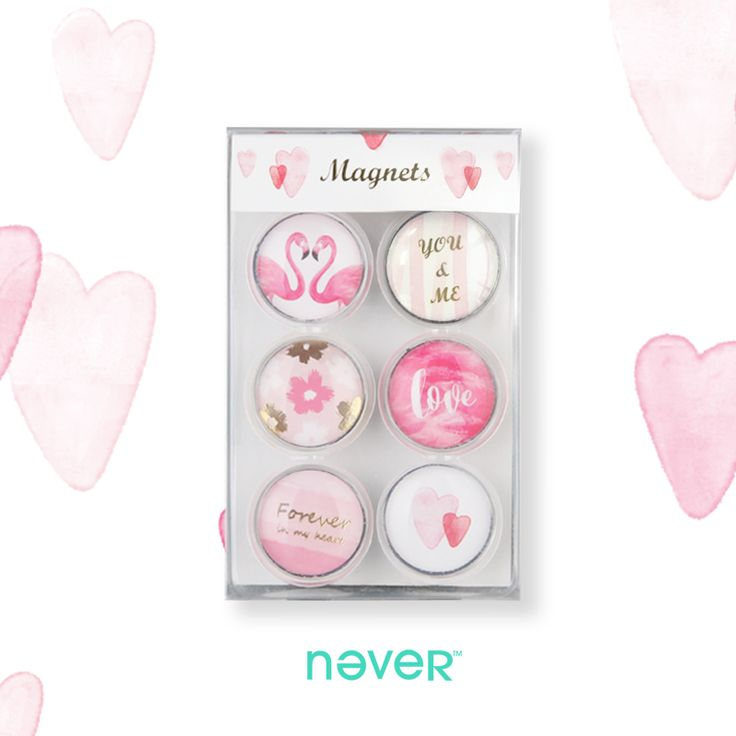 Never Flamingo Glass Magnetic Buckle Badge Fashion Crystal Novelty Fridge Magnets Whiteboard Sticker School Office Accessories