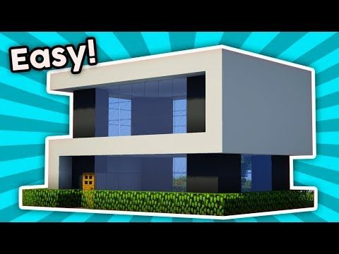 Minecraft How To Build A Easy Small Modern House Tutorial 7 Pc