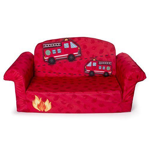 Marshmallow Furniture Children S 2 In 1 Fire Truck Flip Open