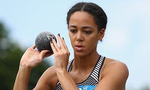 Katarina Johnson-Thompson digs deep to close in on Olympics threshold • Heptathlete placed second after day one in Götzis • Johnson-Thompson finished last in shot but turned it round in 200m