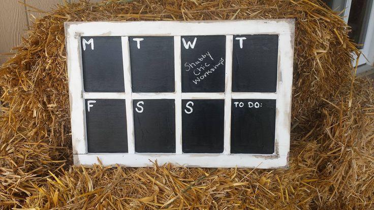 Chalkboard Weekly Calendar