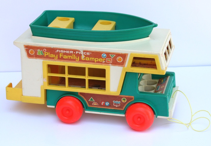 Vintage Fisher Price Little People 1972 Play Family Camper Model 994
