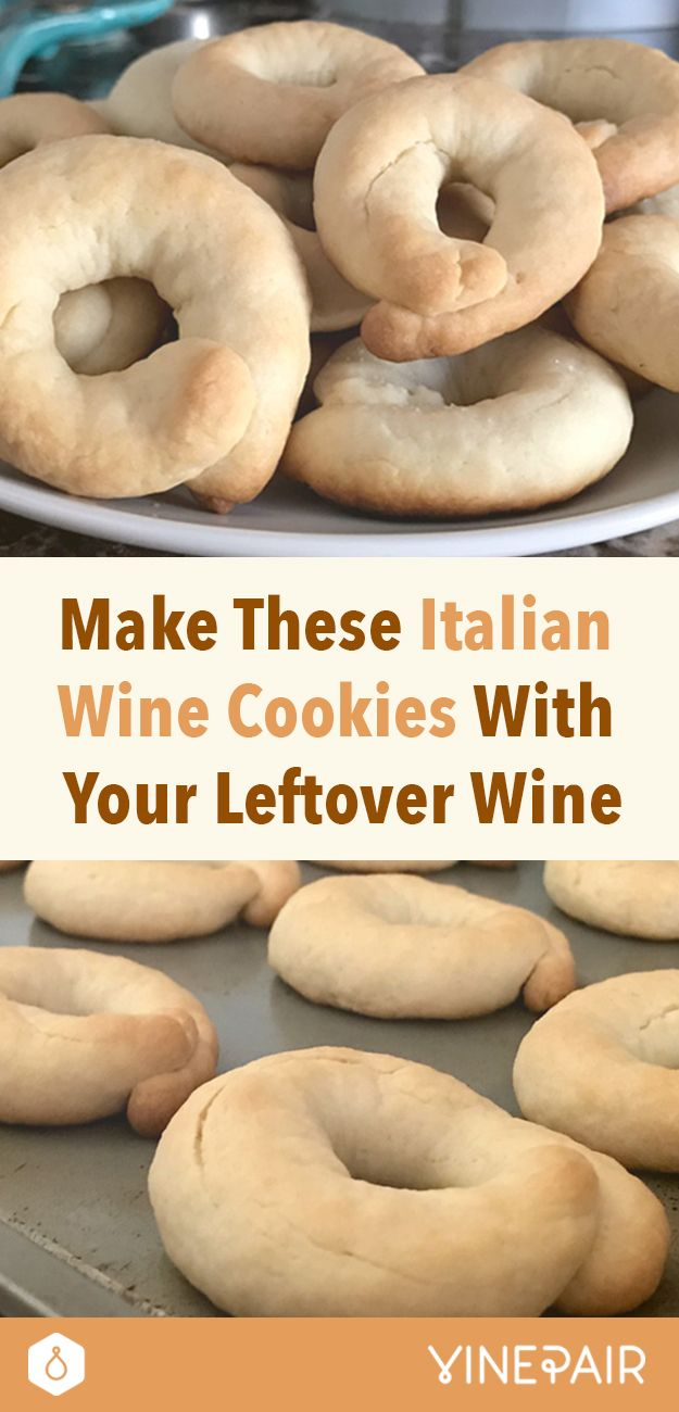 Just when you've tossed out the sweets, you see it: a half-consumed wine bottle from that last New Year's toast. Learn how to make cookies with it!