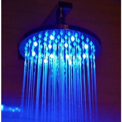 "Alfi Rain Round 8"" Multi Color LED Shower Head"