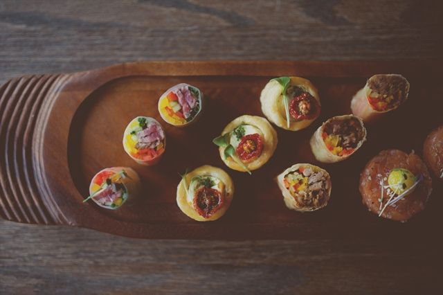Canapé Selections Available for after the Wedding Ceremony, The Ferry House Inn. Copyright www.rebeccadouglas.co.uk www.theferryhouseinn.co.uk