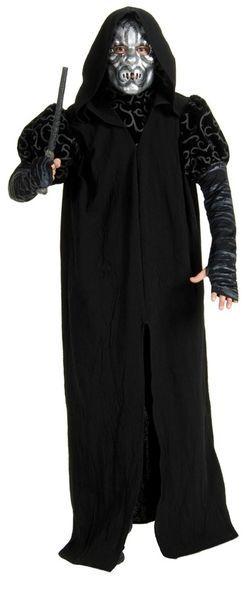 Naamiaisasu; Kuolonsyöjä Deluxe. Naamiaismaailman Kuolonsyöjän asu sisältää mustan kaavun ja naaman peittävän naamion.
