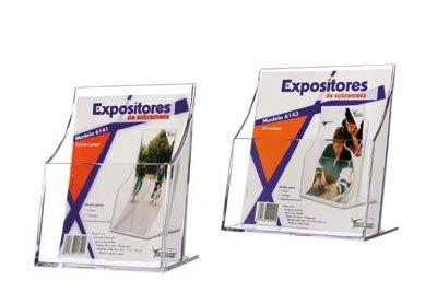 EXPOSITORES PORTAFOLLETOS. Fabricados en poliestireno de gran calidad y alto brillo.