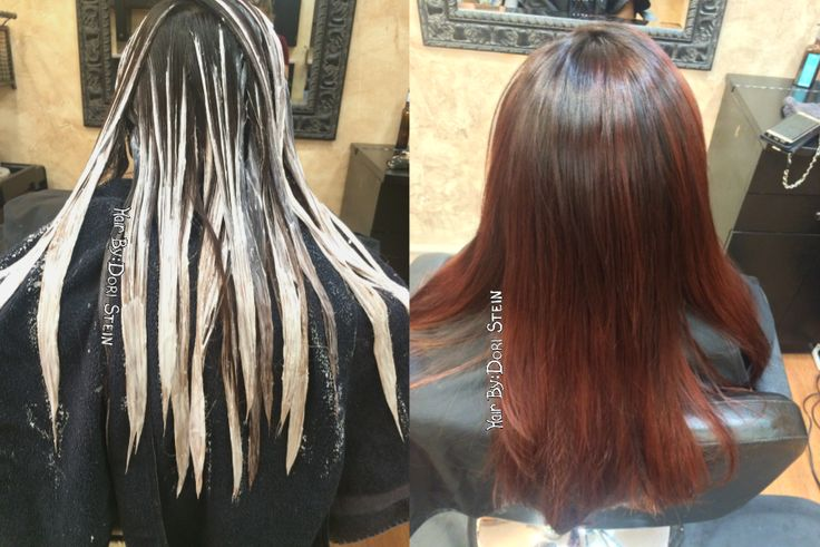 Red Hair. Balayage hair. Red balayage highlights. This is a gorgeous look with low upkeep and a gorgeous rich red violet color. Red violet highlights