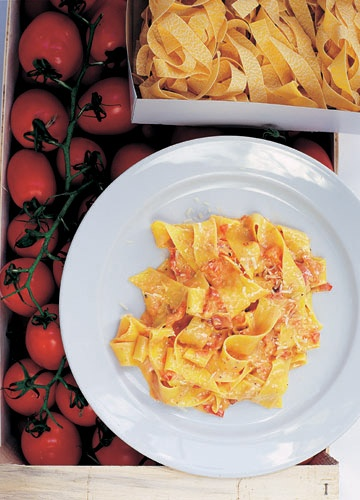 David Loftus photography of pappardelle pasta for Italian Two Easy London River Cafe