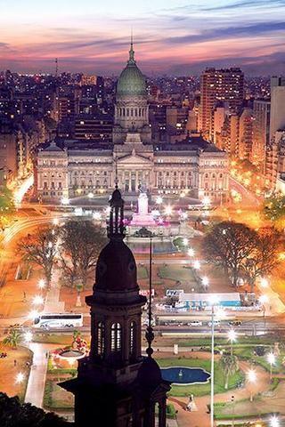 Plaza de los dos Congresos. Buenos Aires, Argentina