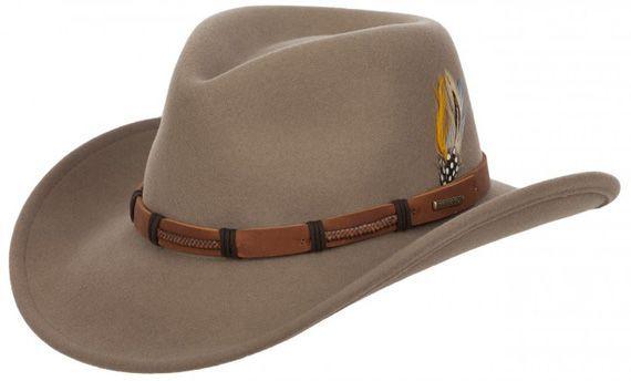 Stetson Clanton - béžový plstěný westernový klobouk