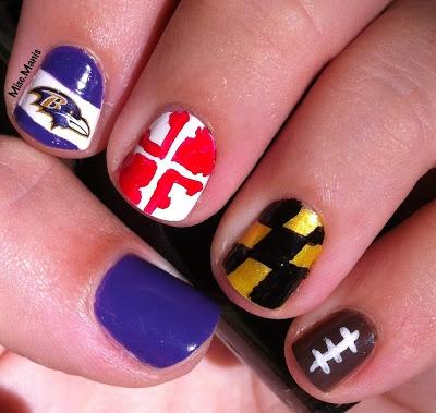 Baltimore Ravens Nails love, love, love! Maryland Pride