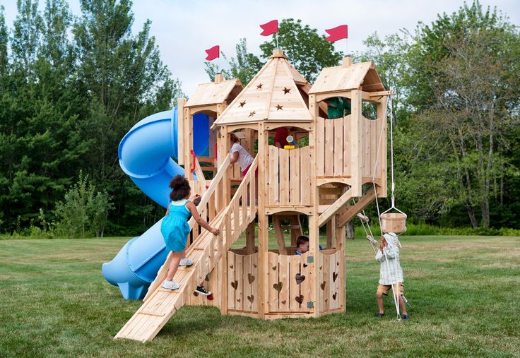 Build your own wooden swing set woodworking projects plans for Build your own wooden playset