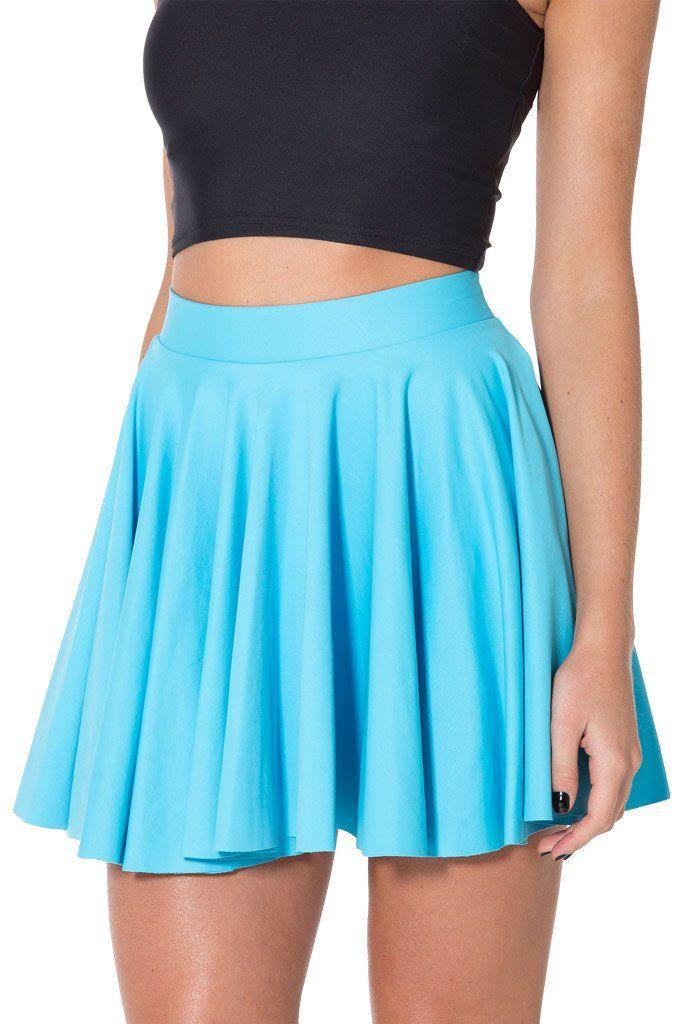 Matte light blue cheerleader skirt (L)