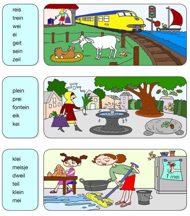 Ei-woorden steunkaart van Veilig leren lezen Kim-versie.