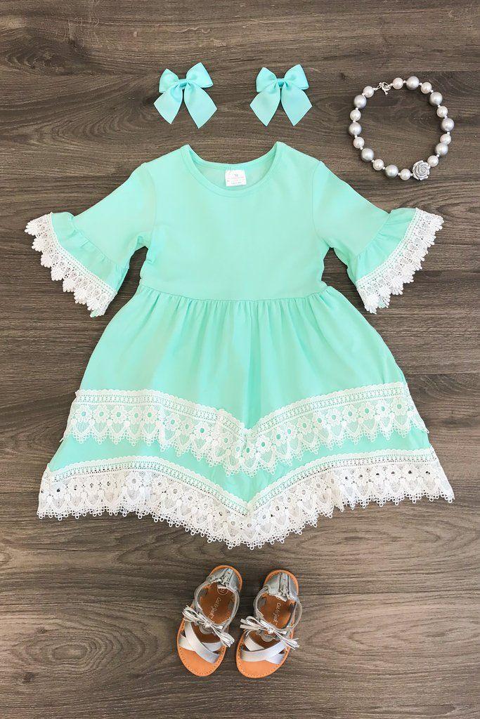 The Miranda Mint Lace Dress