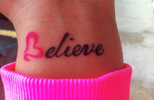If I ever get another tattoo this would be neat. Or my children's names on my wrists.