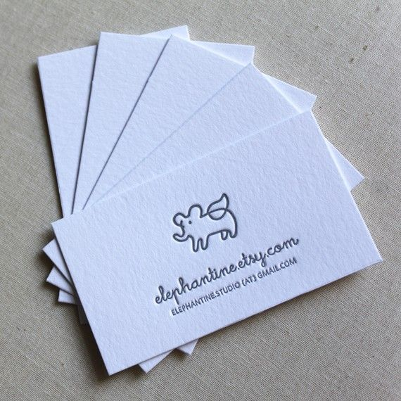 letterpress business cards / calling cards by weheartpaper on Etsy, $175.00