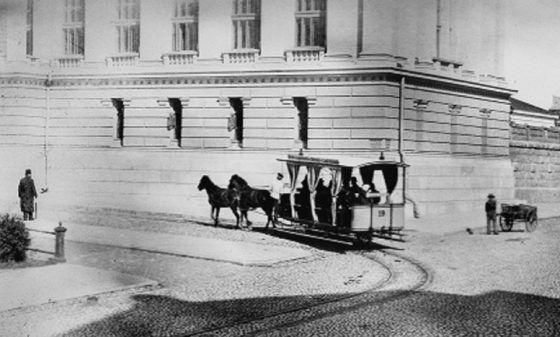 Helsinki, Finland. Sörnäisten raitiolinja kulki Kruununhaan kautta 1890-luvulla. Photo: K.E. Ståhlberg