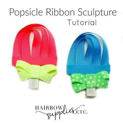 The video shows how to make a popsicle ribbon sculpture. Super easy follow instructions on how to make a ribbon sculpture!