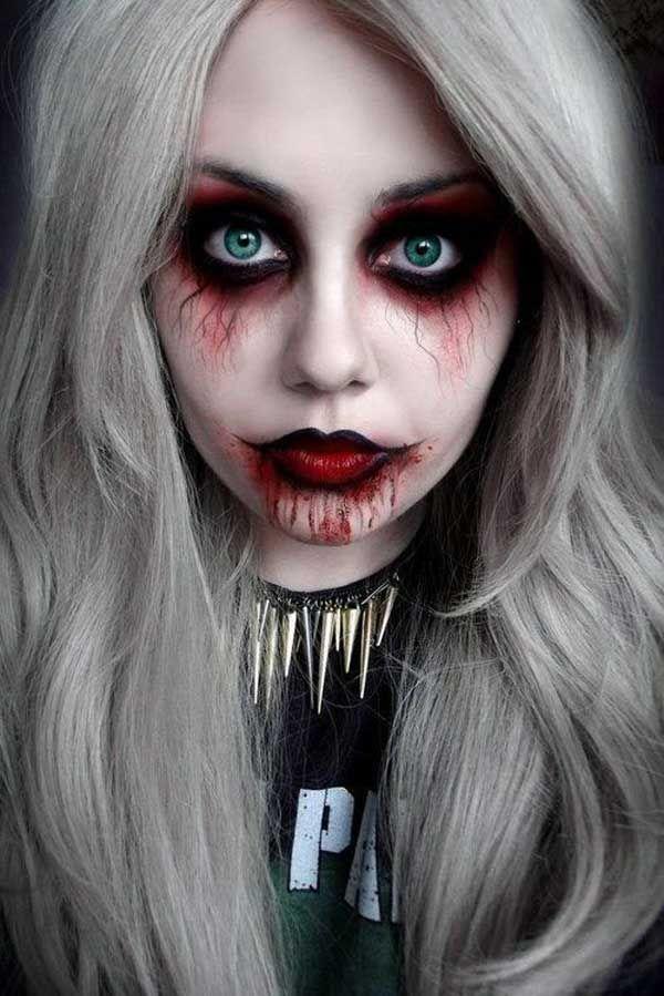 Resultado de imagem para blood eyes makeup