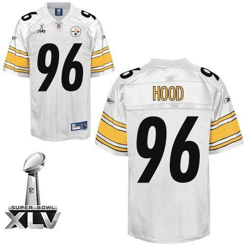 Reebok Pittsburgh Steelers Ziggy Hood Authentic White 96 Jerseys Sale