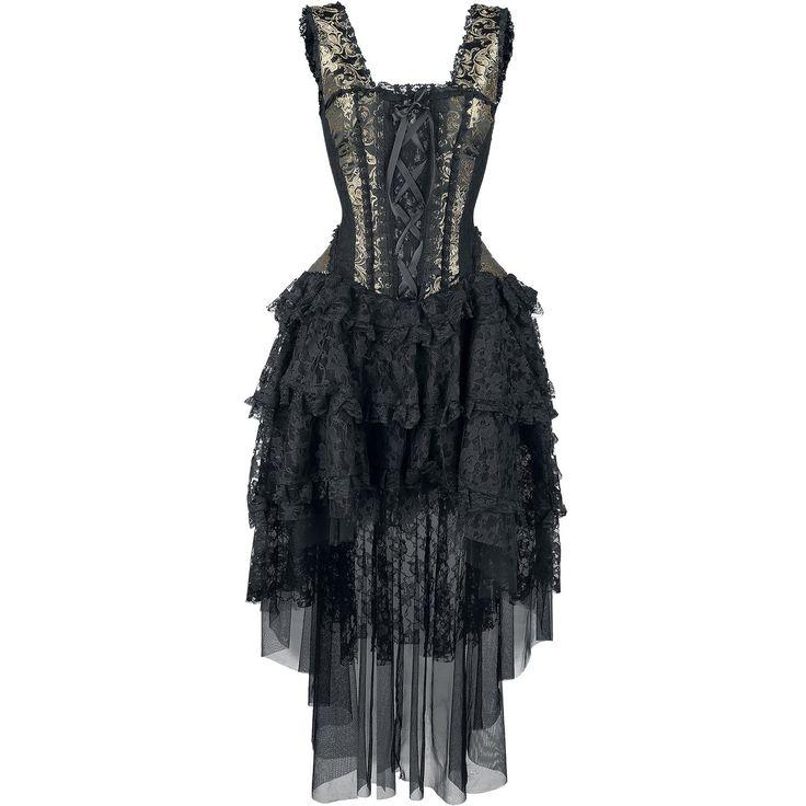 """I hear the call of my high school days <3 ~ Burleska Long dress, Women """"Ophelie Dress"""" gold • EMP"""