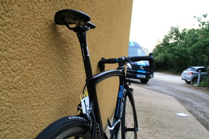 Pro bike: Chris Froome's Pinarello Dogma F8 - The bike still retains some of the curvature of the 65.1, but it's been toned down massively, particularly in the seat-stays
