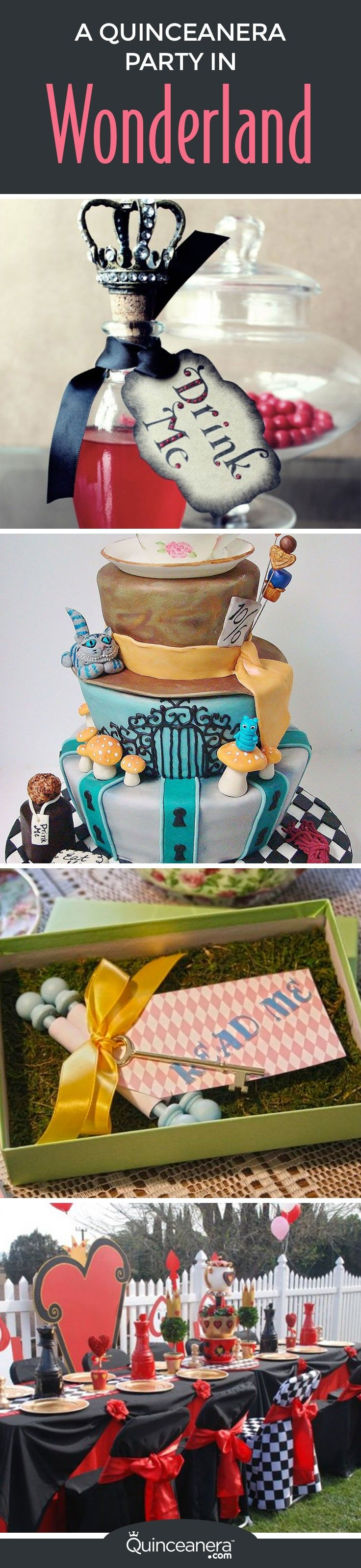 An enchanted wonderland quince theme like Alice in Wonderland is sure to dazzle your guests with it's originality!