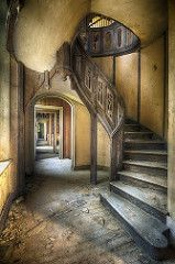 Amazing staircase at Chateau Clochard, an abandonesd castle in France