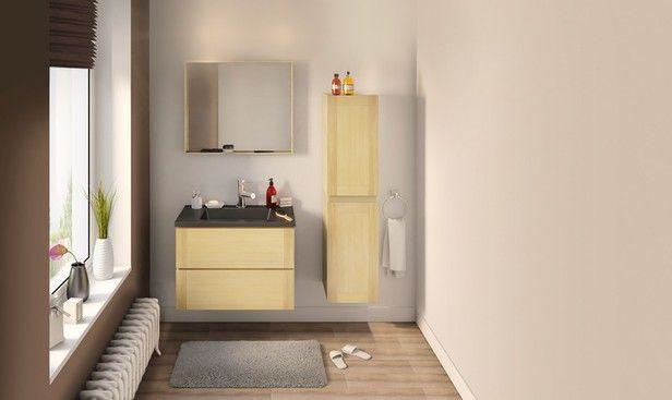 """Fini la salle de bains froide et impersonnelle. Bienvenue aux espaces bien-être et cocooning qui nous ressemblent.  Ces meubles de salle de bains """"Origin"""" ont tous pour faire de cette espace, l'une de vos pièces préférées."""