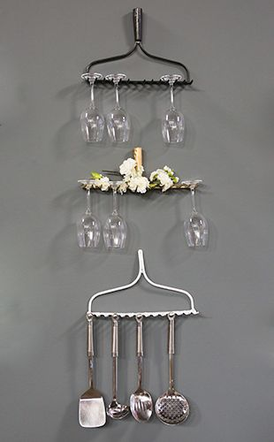 DIY: Rake Wine Glass Holder