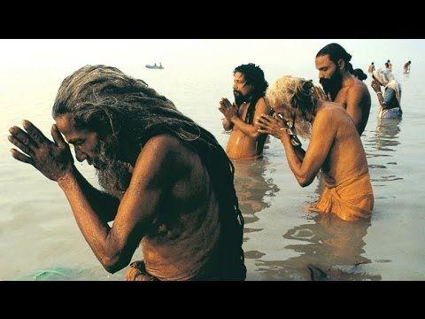Varanasi Ghat Morning Hindu Rituals in Ganges - beautiful morning.