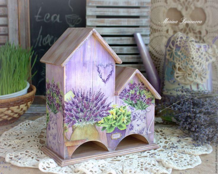 """Купить Чайный домик """"Herbs and flowers"""". - фиолетовый, чайный домик, двойной чайный домик"""