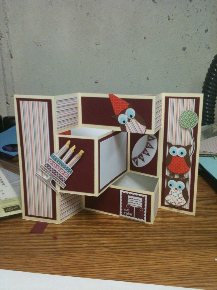 177 best cards Tri-shutter images on Pinterest Folded cards - tri fold card