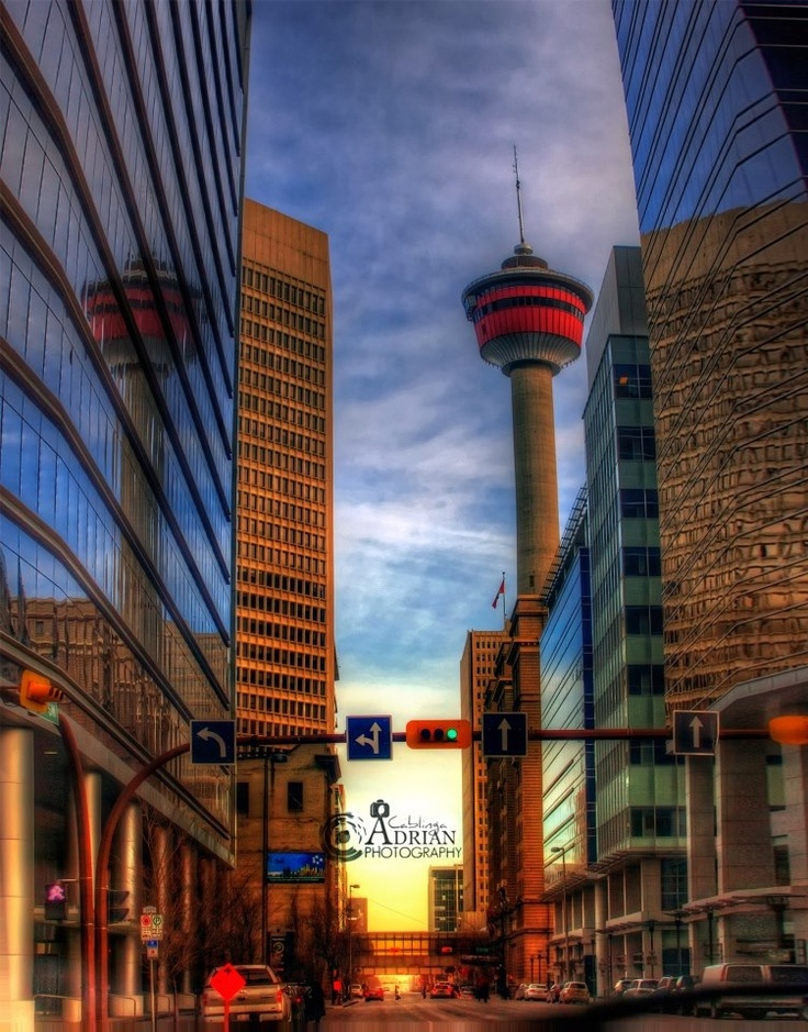 The beautiful #Calgary Tower, built in the late 1960's and still our cities most recognizable landmark! This amazing photo was taken by Adrian Cablinga.