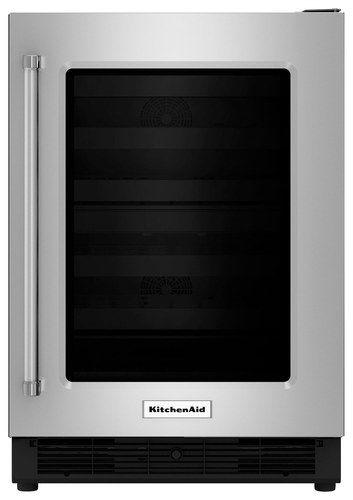 KitchenAid - 5.1 Cu. Ft. mini fridge - Black/Stainless Steel (Black/Silver)